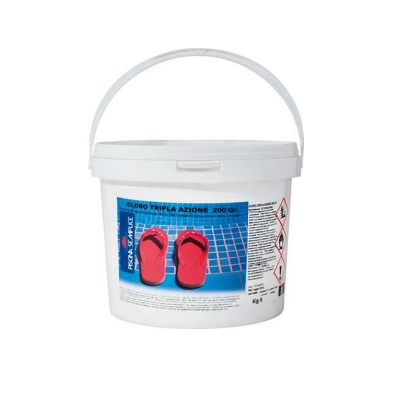 Prodotto multiazione per acqua piscine 5 - 10 kg