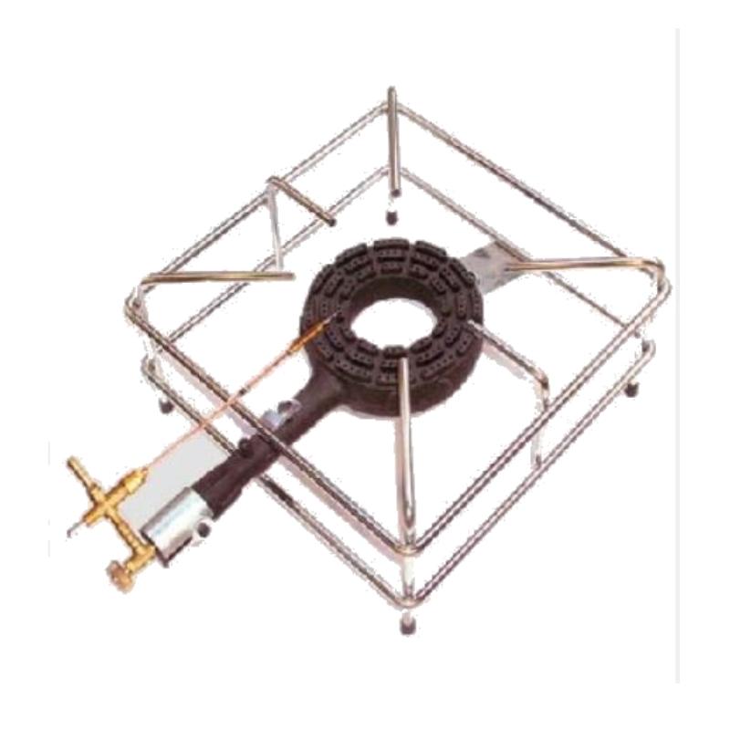 FORNELLONE A GAS CON TERMOCOPPIA 40X40