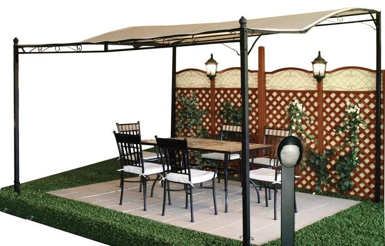 Gazebo in acciaio patio ferramenta centro italia for Pergola bioclimatica prezzo mq
