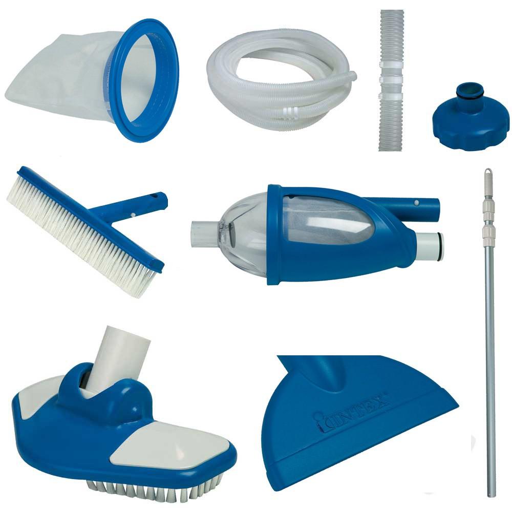 Kit pulizia piscine deluxe intex 28003 ferramenta centro for Accessori piscine intex
