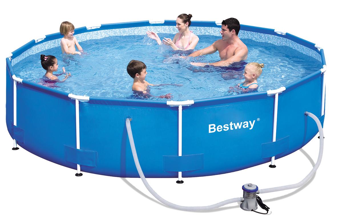 Piscina fuoriterra rotonda bestway 56416 cm 366 x 76 - Manutenzione piscina fuori terra bestway ...