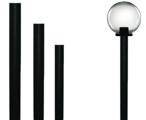 Pali per lampioni sfere globo confezione 6 pz - Pali per lampioni da giardino ...
