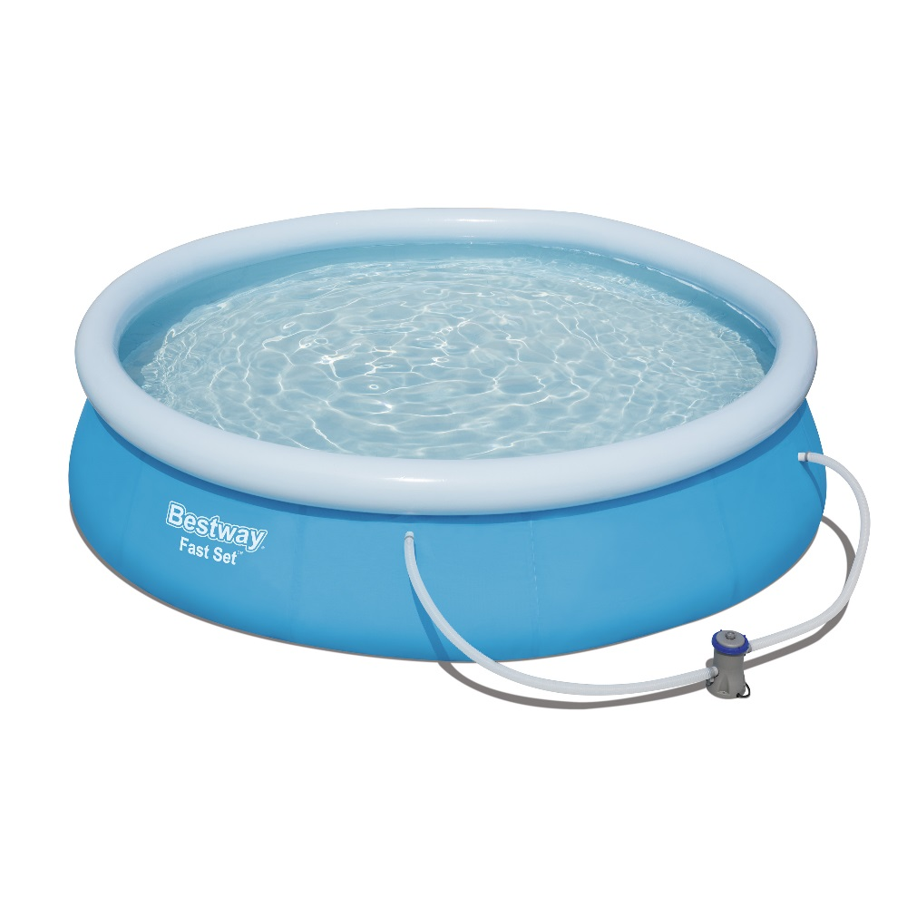 Piscina fuori terra rotonda autoportante bestway 57274 cm for Addobbi piscina