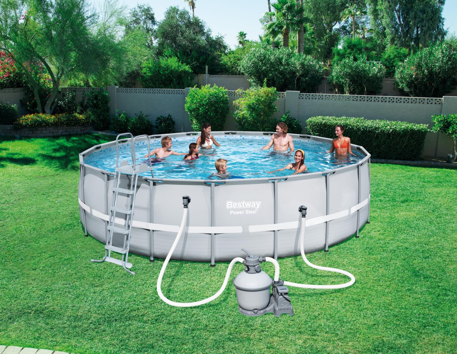 Piscina fuori terra rotonda bestway 56464 cm 549 x 132 for Piscine fuori terra best way