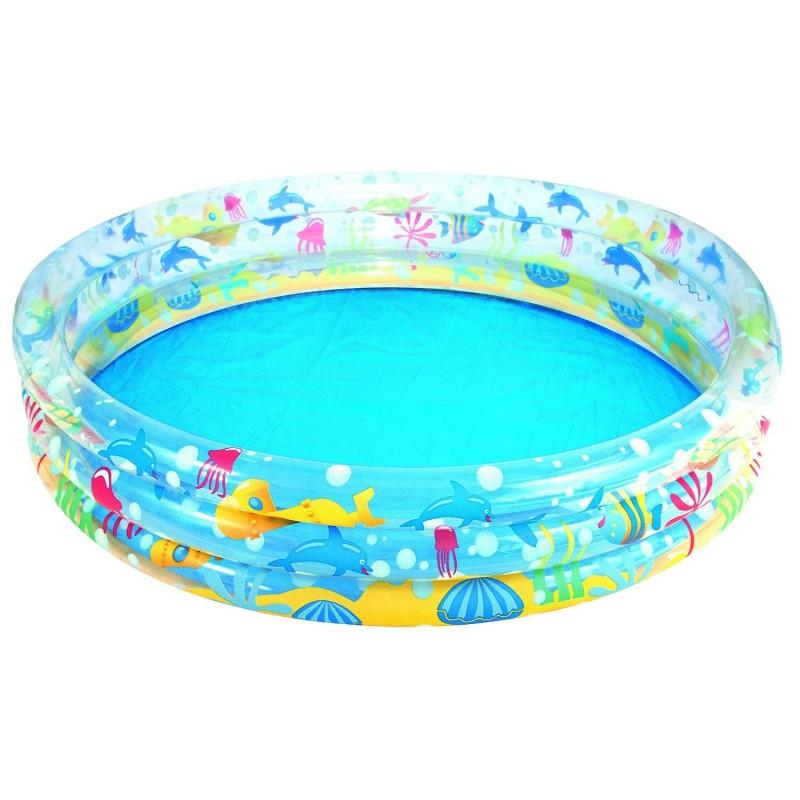 Piscina gonfiabile rotonda tre anelli bestway 51004 cm for Bestway italia piscine