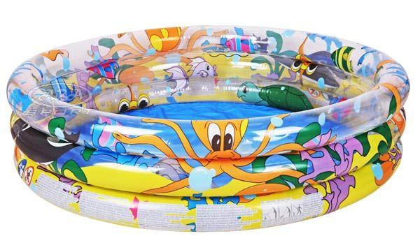 Piscina fuoriterra gonfiabile rotonda tre anelli bestway for Piscina gonfiabile online