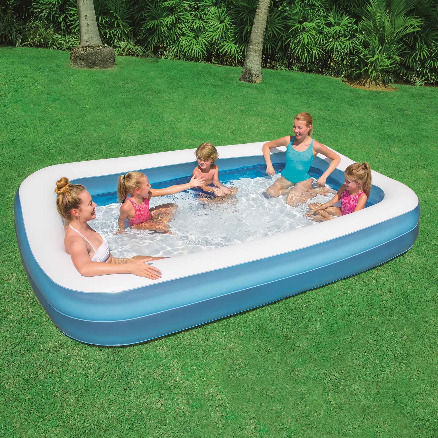Piscina gonfiabile rettangolare bestway 54150 cm 305 x for Addobbi piscina