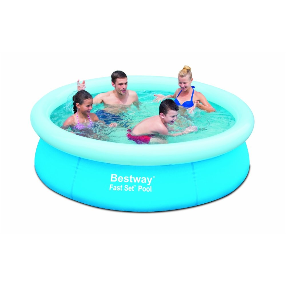 Piscina fuori terra rotonda autoportante bestway 57252 cm for Addobbi piscina