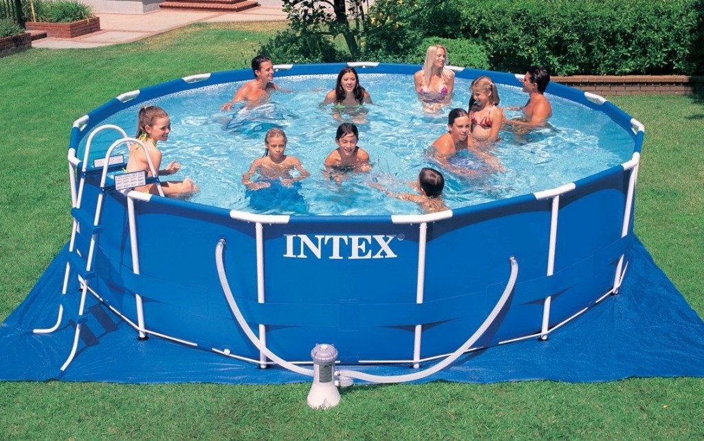 Piscina fuori terra rotonda intex 28234 cm 457 x 107 for Piscina intex rotonda