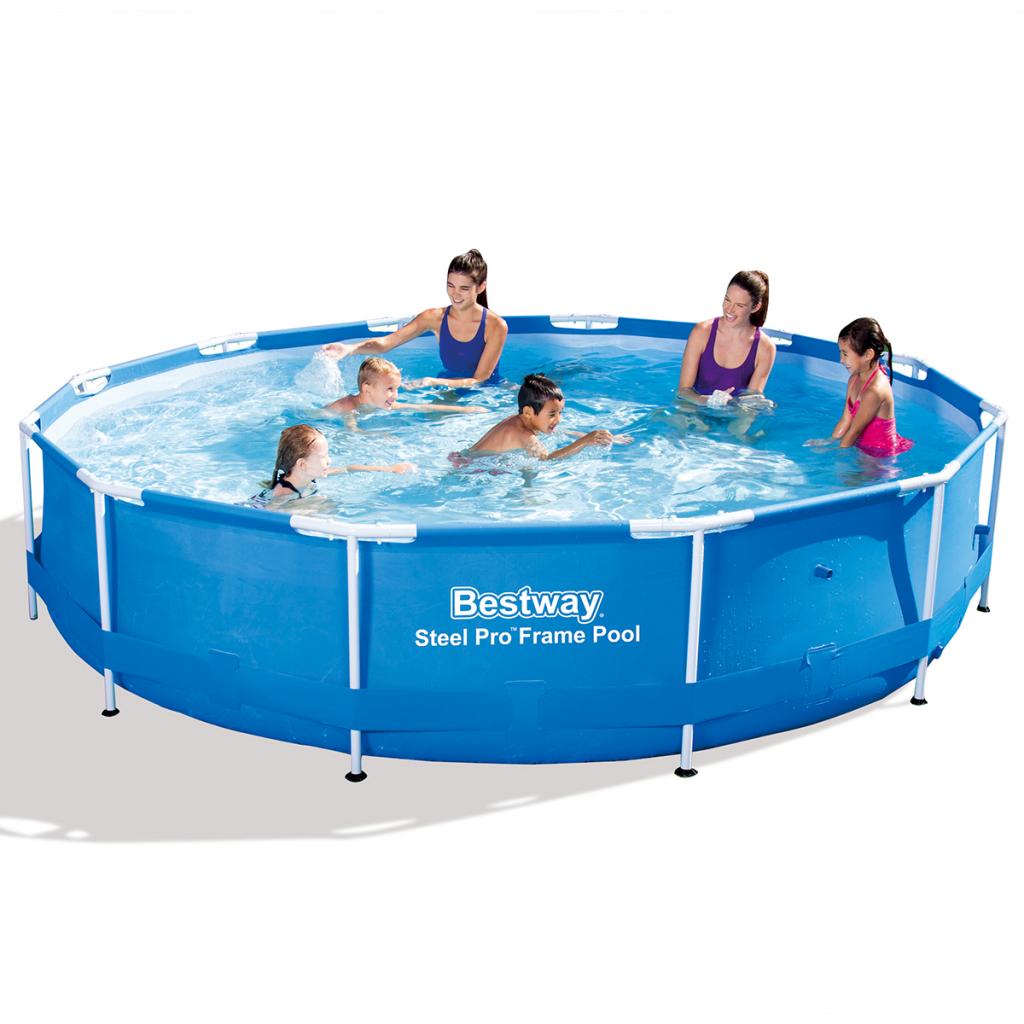 piscina fuori terra rotonda steel pro bestway 56415 cm