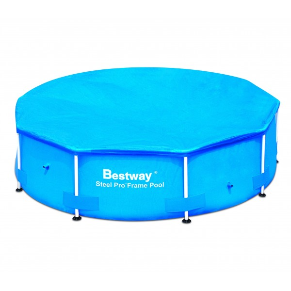 Telo copertura piscine rotonde steel pro bestway for Teli copripiscina fuori terra