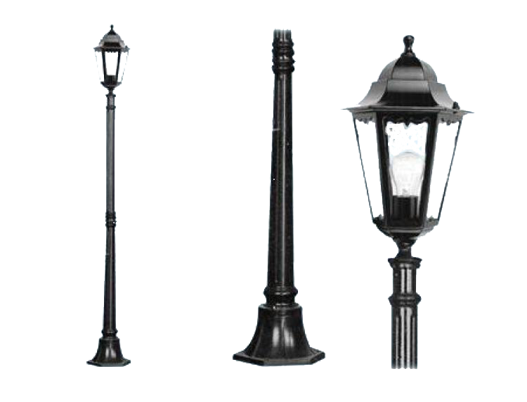 Lampione new york 1 luce su palo ferramenta centro italia - Lampioni da giardino fotovoltaici ...
