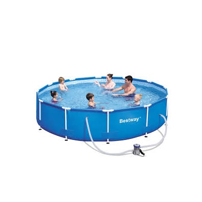 Piscina fuori terra rotonda bestway 56681 cm 366 x 76 for Piscine fuori terra best way