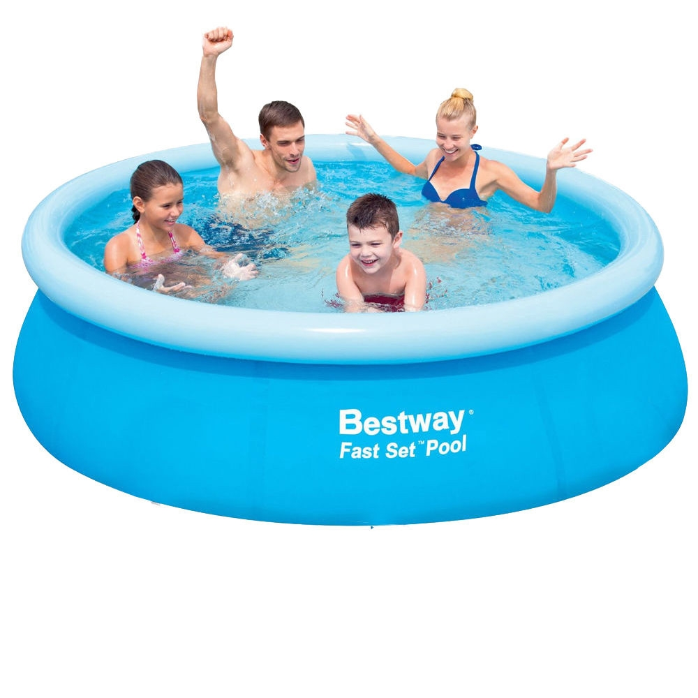 Piscina fuori terra rotonda autoportante bestway 57265 cm for Addobbi piscina