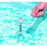 termometro galleggiante bestway in uso