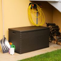Baule multibox rattan 420 marrone toomax