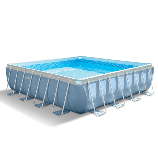 Piscina fuori terra quadrata intex 26764 cm 427 x 427 x for Addobbi piscina