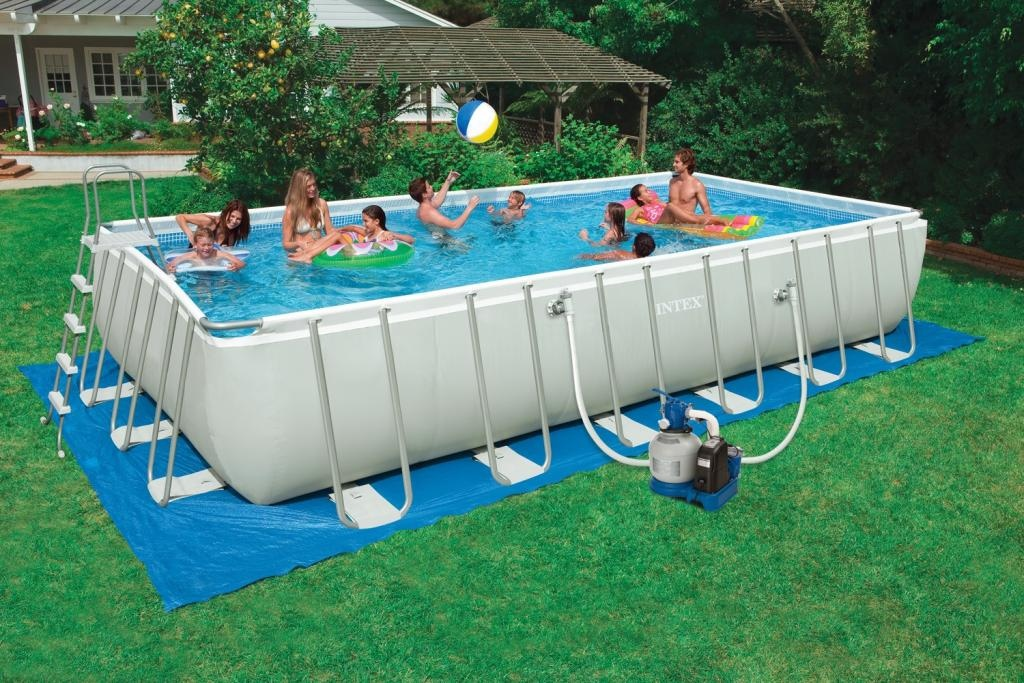 Piscina fuori terra rettangolare intex 28352 cm 549 x 274 for Intex piscine catalogo