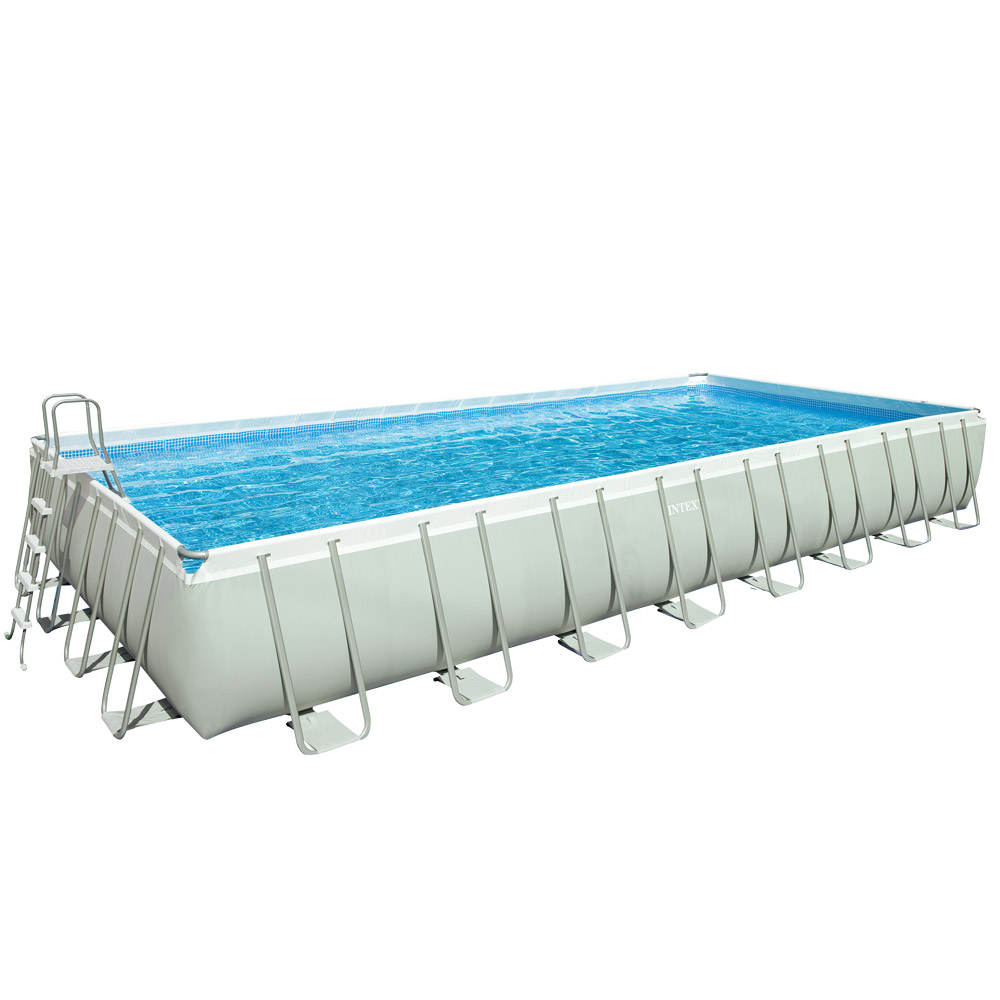 Piscina fuori terra rettangolare intex ultra frame 28372 for Intex piscine