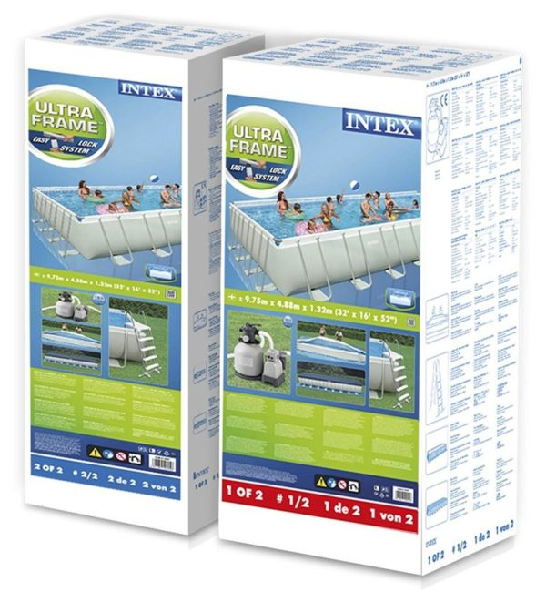 Piscina fuoriterra rettangolare Intex 28372 scatole