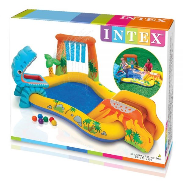 Piscina gonfiabile Dinosaur Play Center Intex 57444 scatola