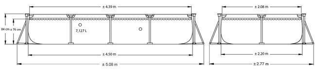 Piscina rettangolare Intex  ingombro