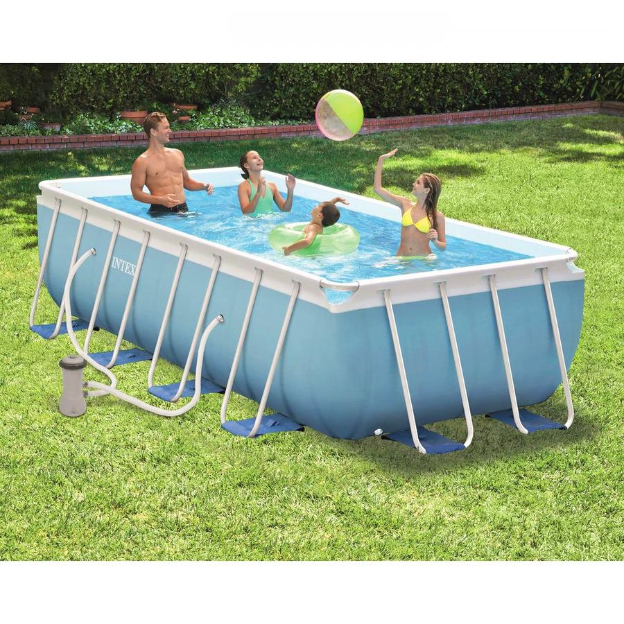 Piscina fuori terra rettangolare intex 28318 cm 488 x 244 for Intex piscine