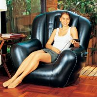 Poltrona sedia gonfiabile Comfort in uso