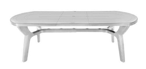 Tavolo pagoda ovale estensibile in resina ferramenta - Tavolo da giardino in plastica ...