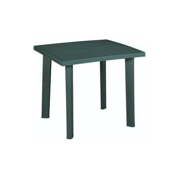 Tavolo fiocco in resina verde per arredo giardino
