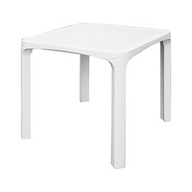 Tavoli Da Giardino In Resina Grand Soleil.Tavolo Quadrato In Resina Ole Bianco Cm 80 L X 80 P X 72 A