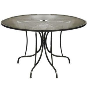 Tavolo rotondo in acciaio