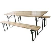 Set Birreria richiudibile 1 tavolo e 2 panche con 2 gambe