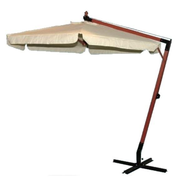 Ombrellone in legno tondo con sostegno laterale Ø cm. 300