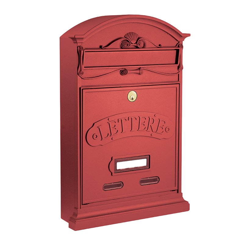 Cassetta Postale Alubox Stile Lettere rosso