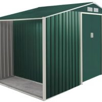 Garden cottage metalgreen L278 con legnaia