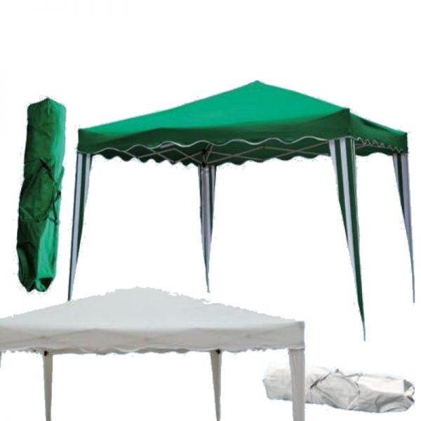 Gazebo Bianco Verde camel