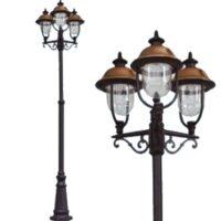 Lampione verona 3 luci su palo