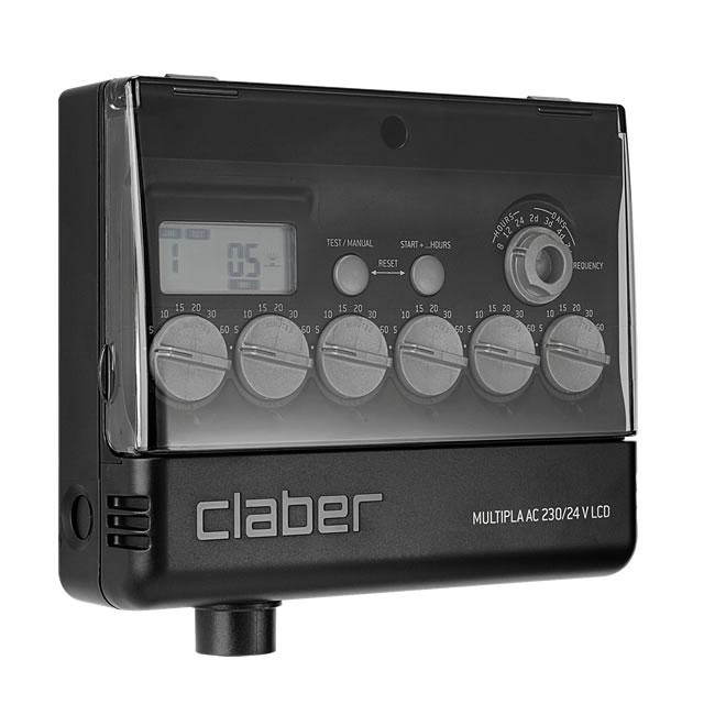Programmatore claber multipla 8058 ferramenta centro for Programmatore irrigazione a batteria claber