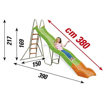 Scivolo in plastica NewPlast Papaya misure