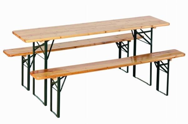 Set birreria richiudibile 1 tavolo e 2 panche con 2 gambe for Tavolo richiudibile ikea