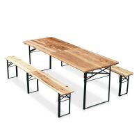 Set birreria un tavolo e due panche con tre gambe