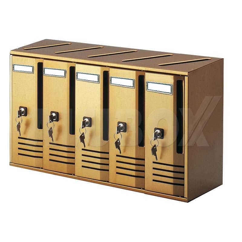 cubo alubox 5 cassetti bronzo