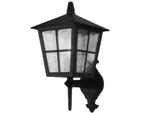 Applique lanterna a parete da esterno alluminio nero opaco lampada