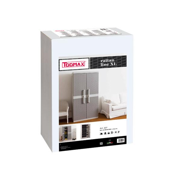 """Armadio Tuttopiani Toomax """"Rattan line XL"""" art. 227 foto imballo"""