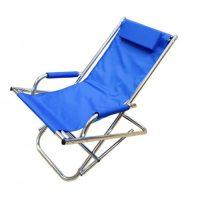 sdraio relax alluminio poliestere blu