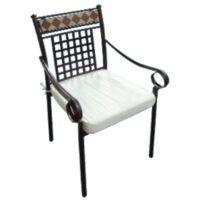 sedia poltrona stilnovo con cuscino acciaio