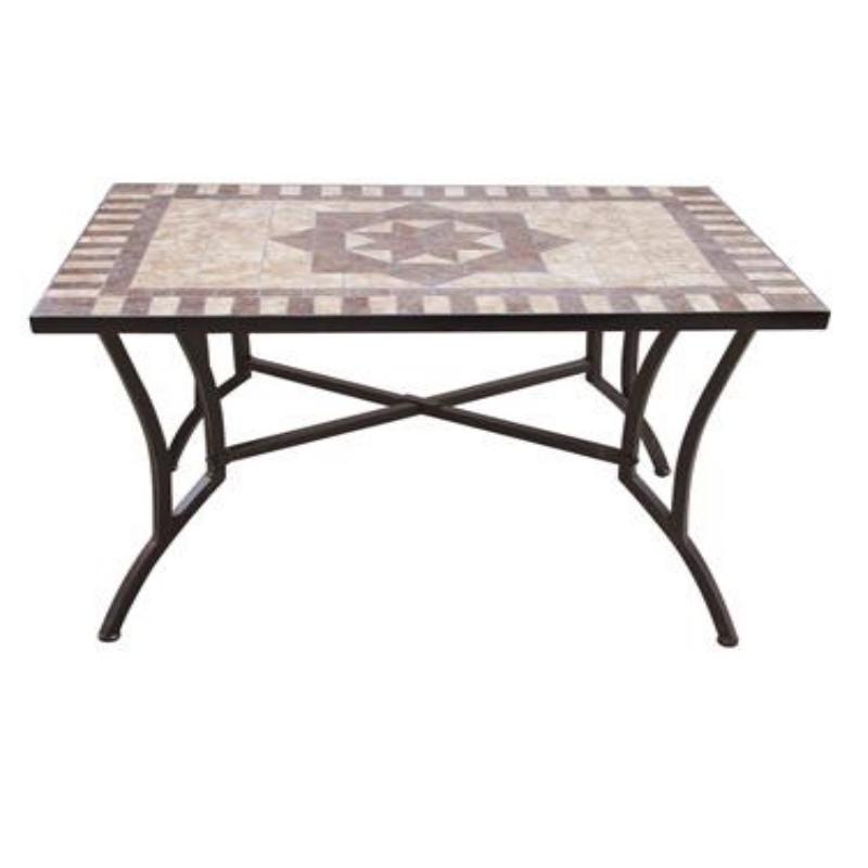 Tavolo artdec mosaico acciaio ferramenta centro italia for Tavoli da giardino in ferro ikea