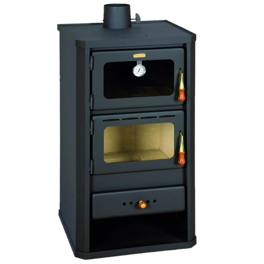 Stufa a legna in acciaio firenze con forno kw 14 - Stufe forno a legna ...