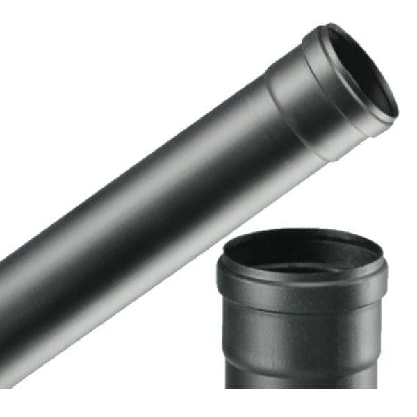 Tubi per stufe a pellet nero opaco